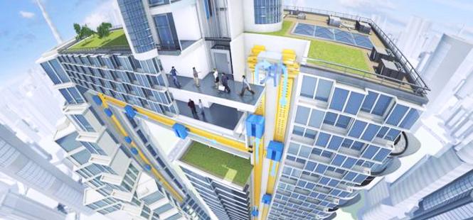 El primer ascensor sin cables del mundo